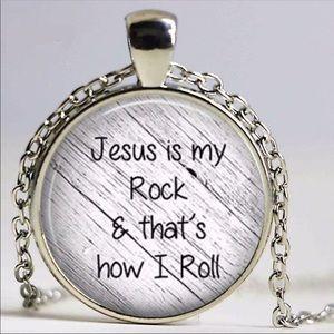 Jesus is my Rock Necklace